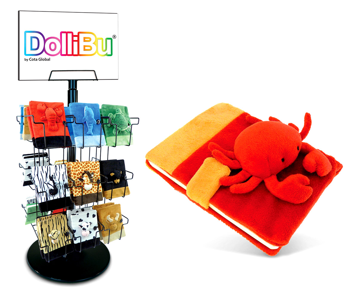 Plush NOTEBOOK Small with Stand - Package