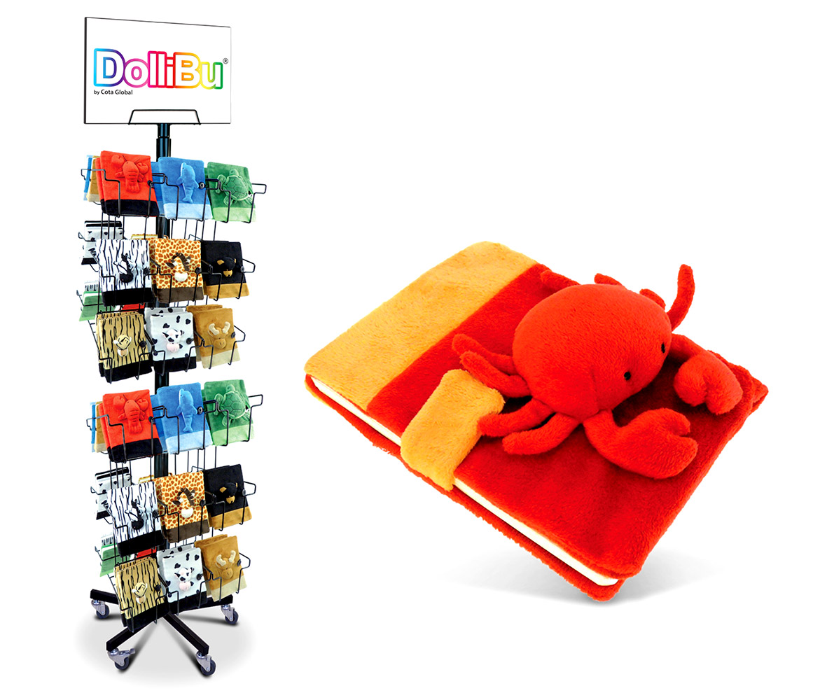 Plush NOTEBOOK Large with Stand - Package