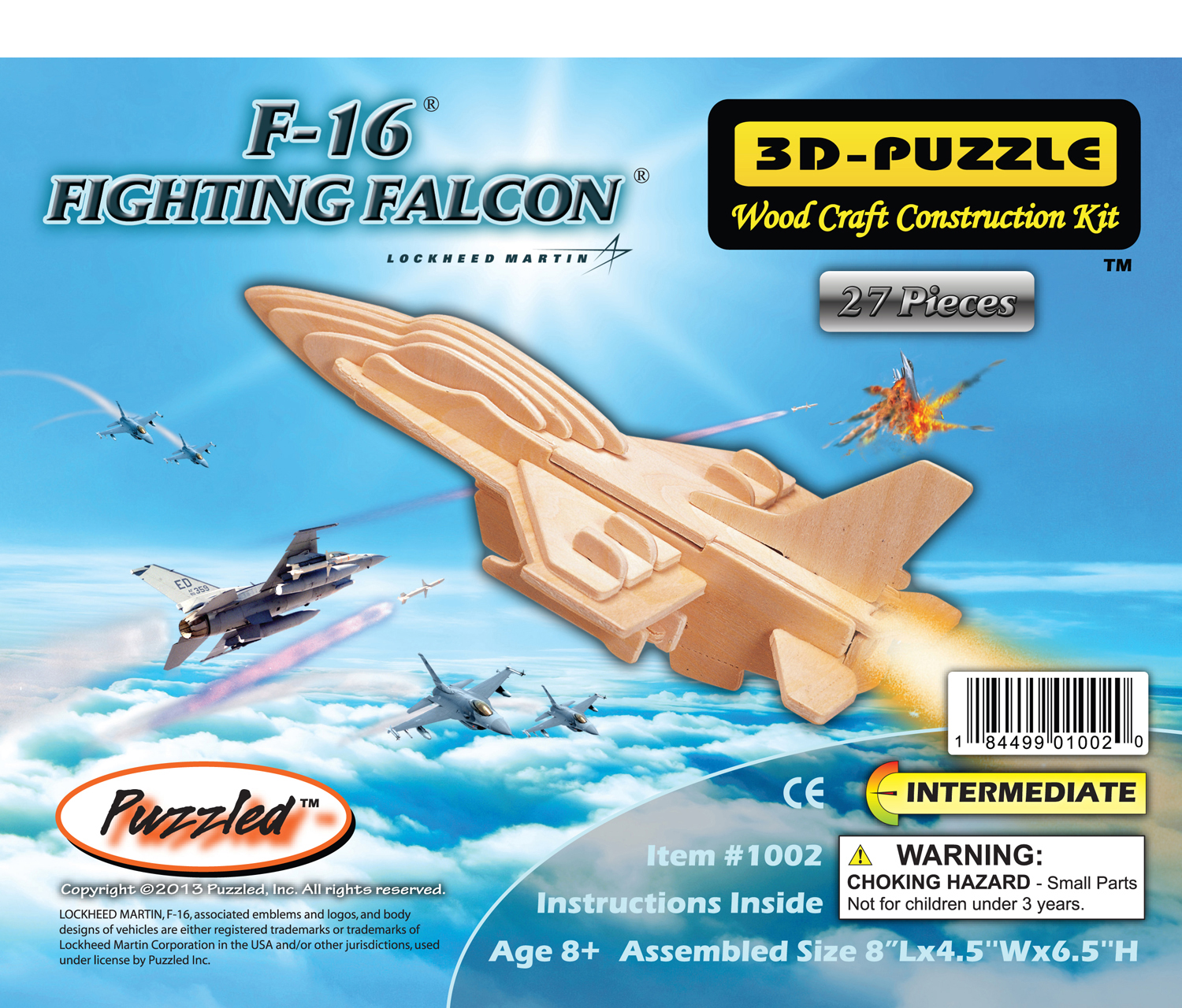 Puzzled 3D Puzzles F-16 Fighting Falcon