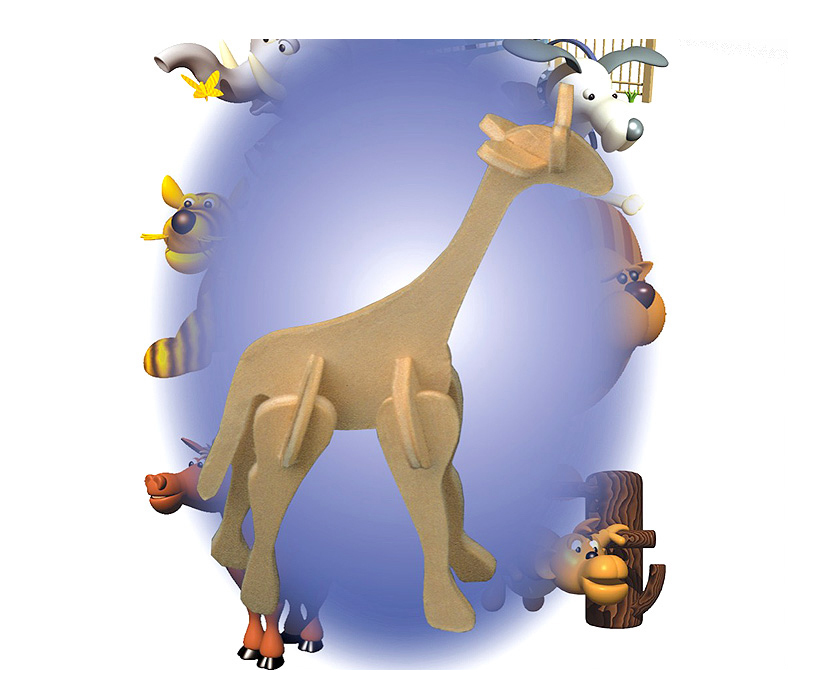 Puzzled Mini 3D Puzzles Giraffe