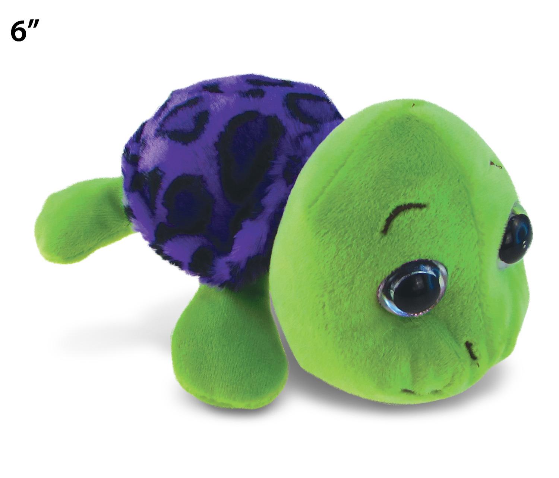 Purple Shell Sea Turtle - Big Eye 6 Inch Plush