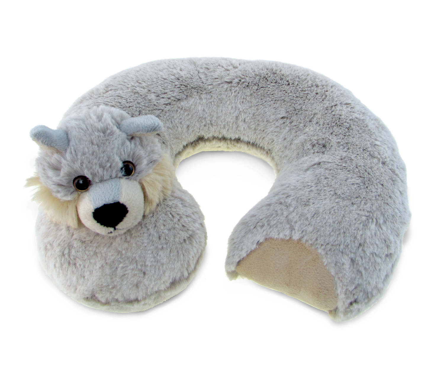 Puzzled Super Soft Plush Neck Pillow Wolf