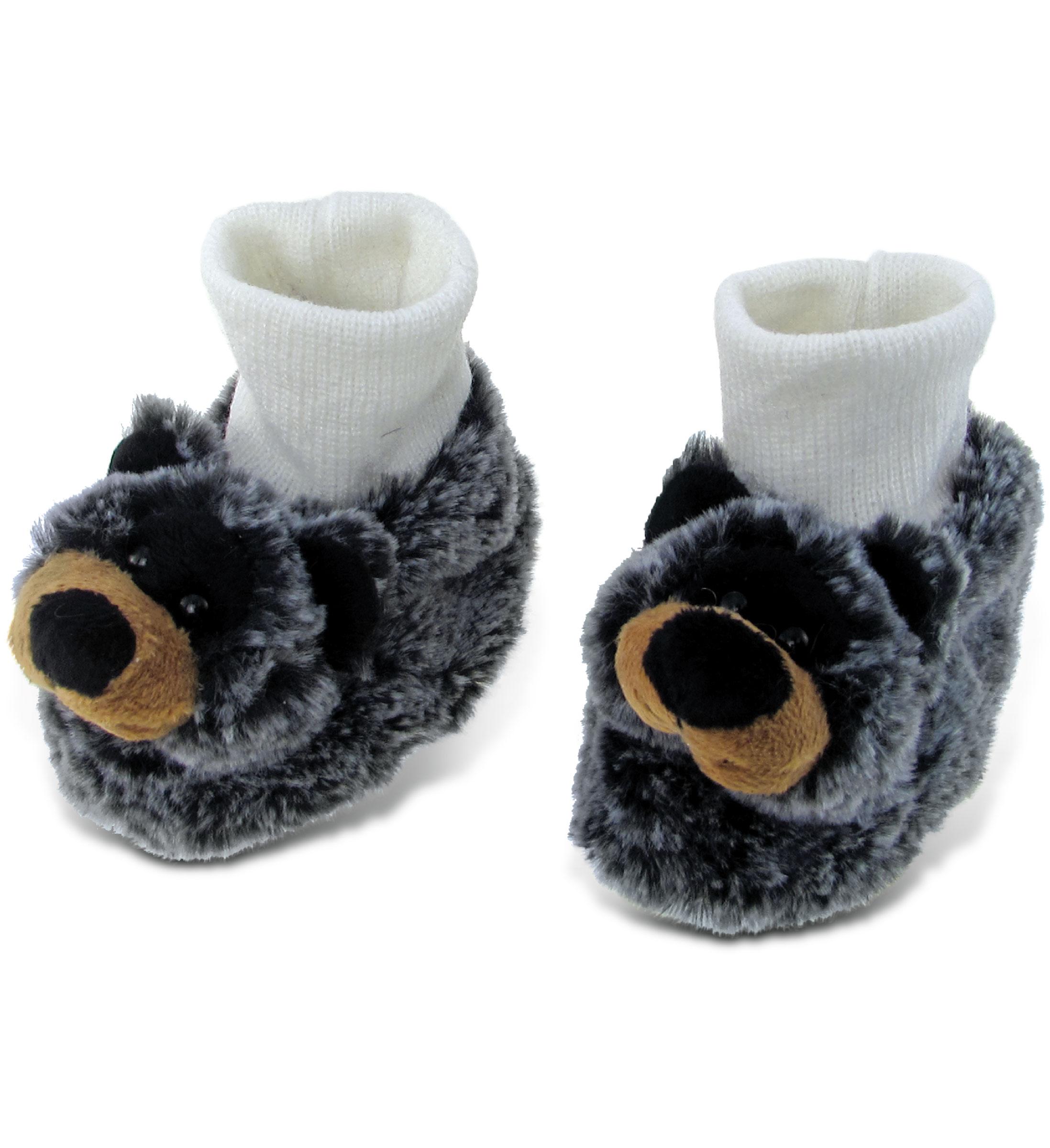 Black Bear - Super Soft Plush Baby SHOES