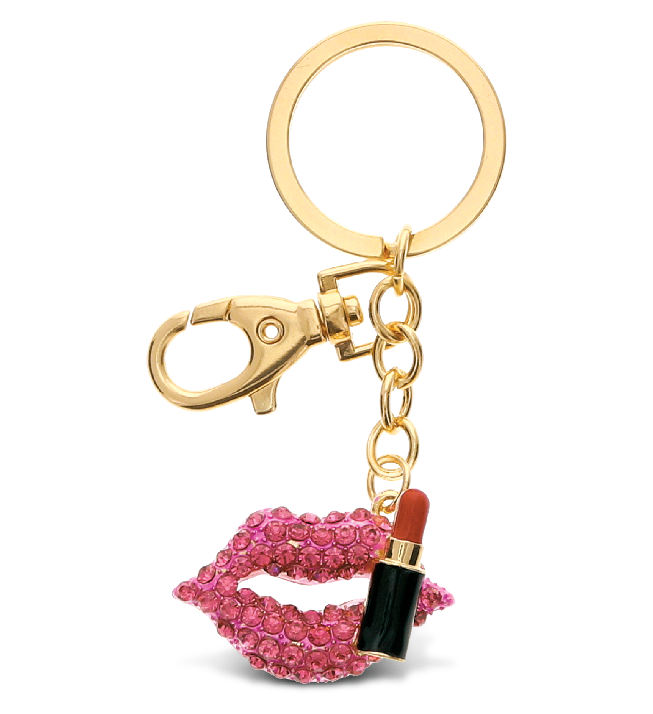 ''The Gold sparkling Pink Lips and Red LIPSTICK charm is part of our unique and elegant collection of