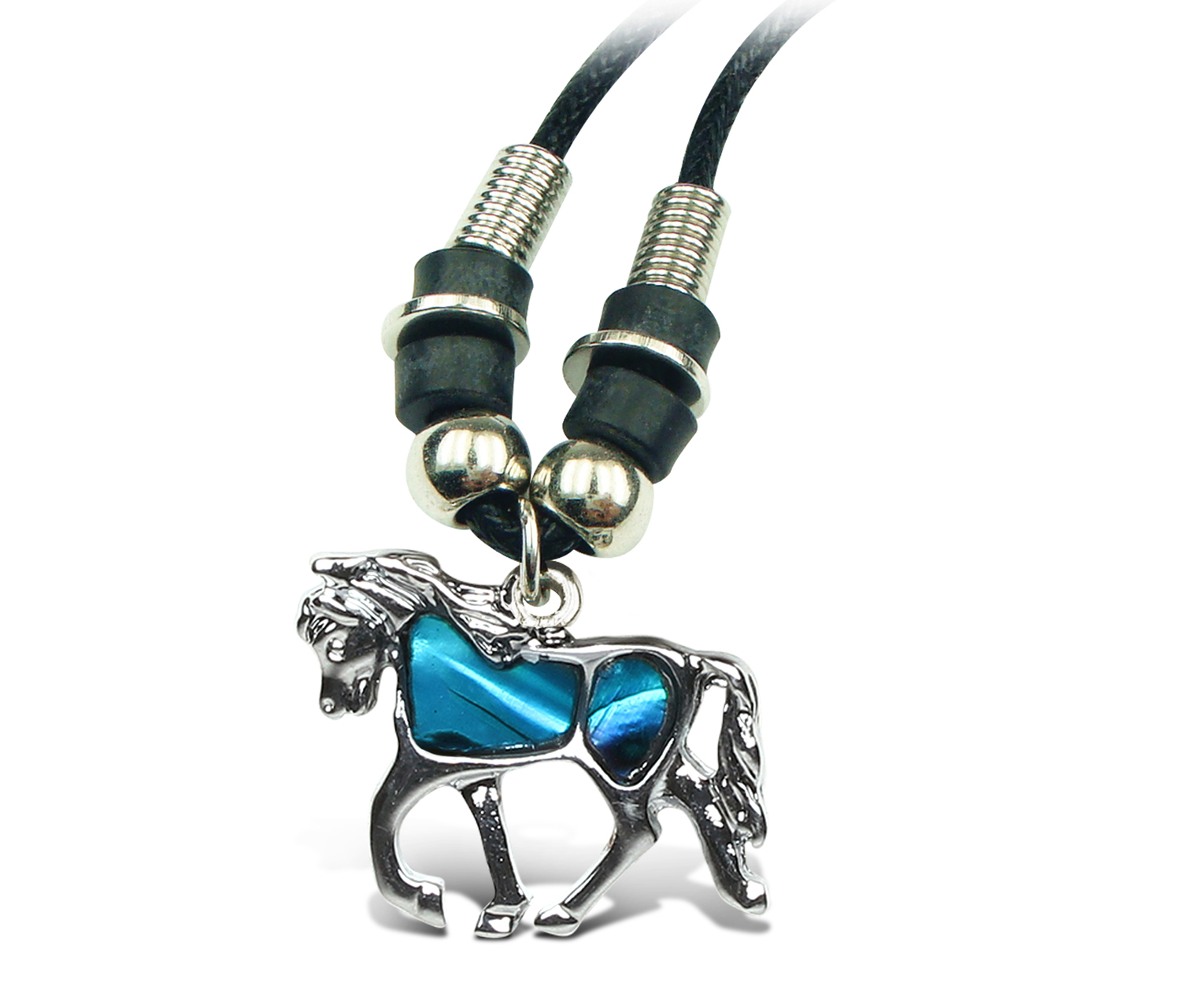 Aqua JEWELRY Necklace Wild Style Chain 18 Horse