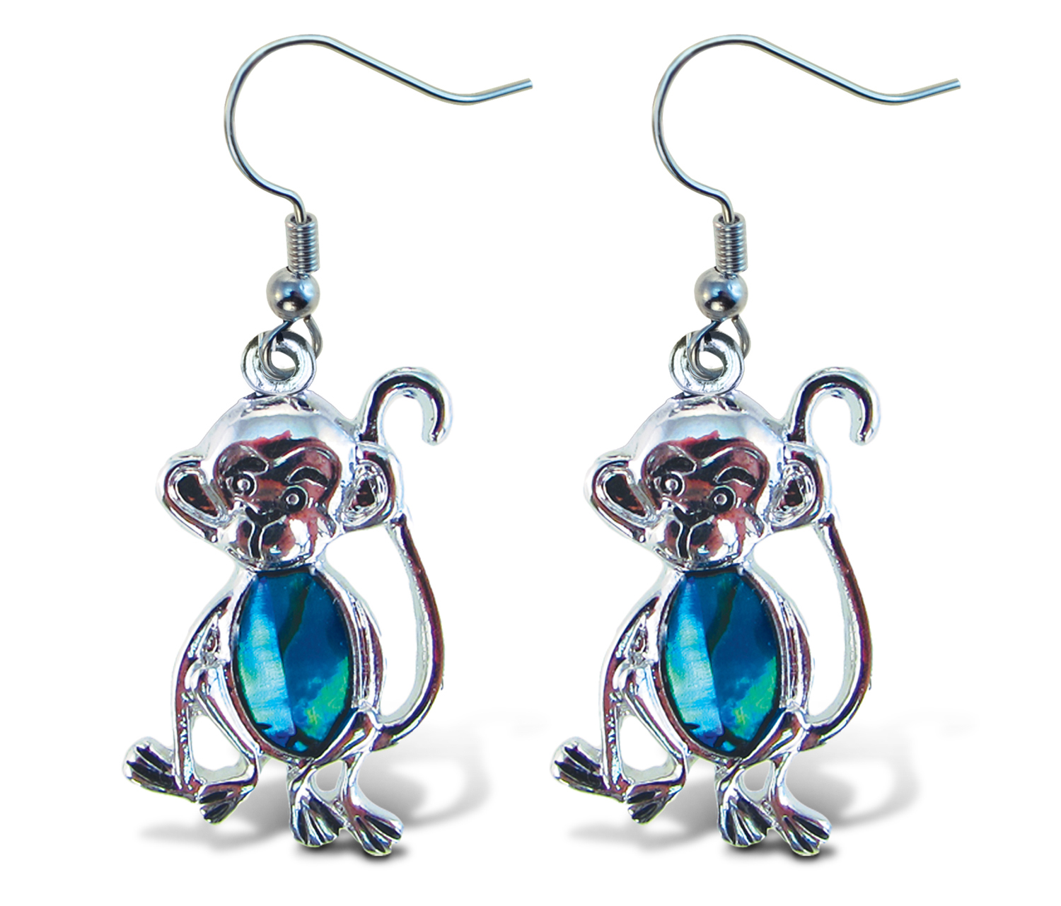 Aqua JEWELRY Earrings Dangle Post Fish Hook