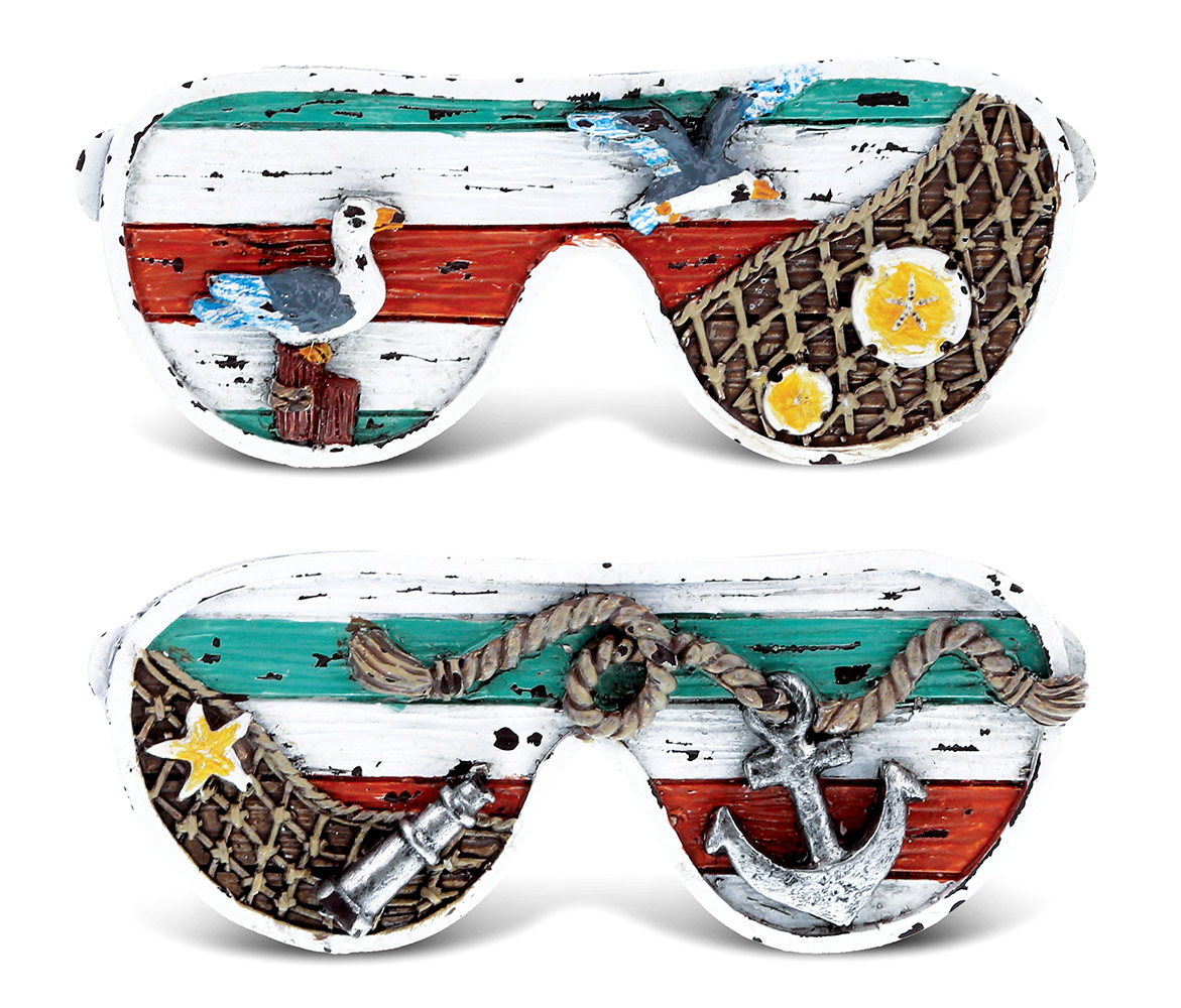 CoTa Global SUNGLASSES Nautical Ocean Magnet (2pc Set) - Nautical Ocean Magnet