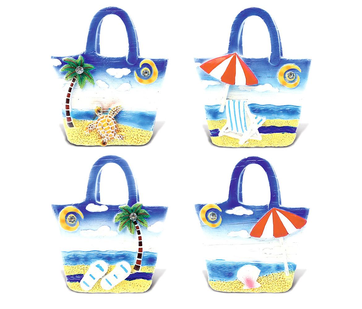 CoTa Global Tropical BEACH BAGs Nautical Ocean Blue Magnet (4pc Set) - Nautical Ocean Blue Magnet