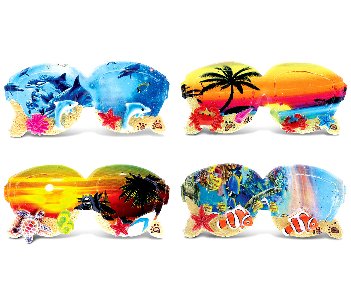 CoTa Global Colorful Tropical SUNGLASSES Summer Magnet (4pc Set) - Summer Magnet