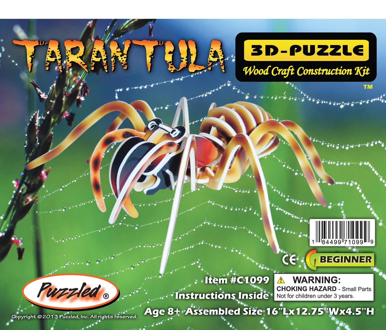 Puzzled Pre-Colord 3D Puzzles Tarantula