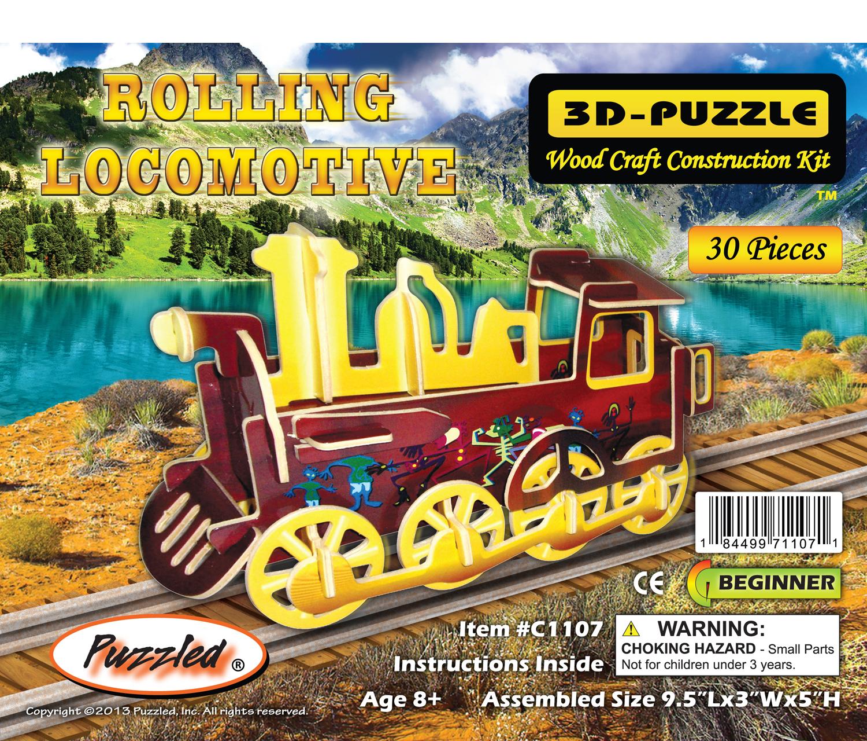 Rolling Locomotive - Illuminated 3D Puzzles