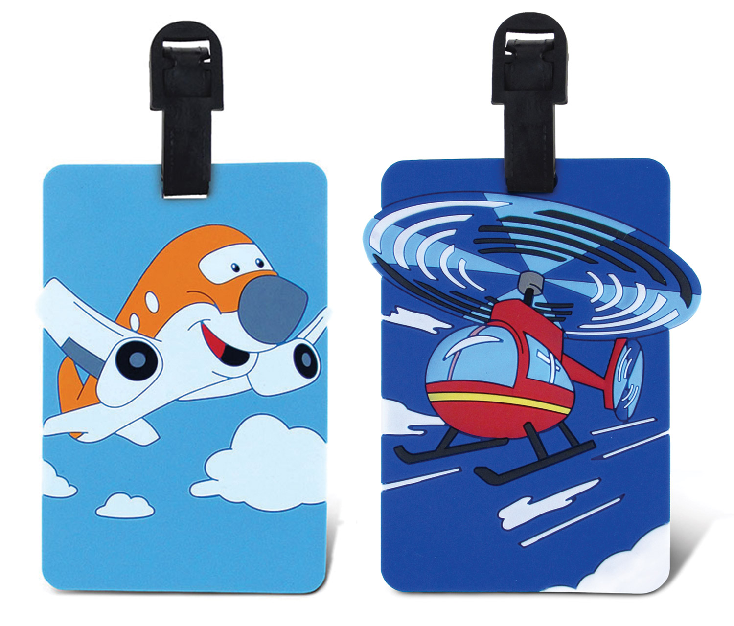 Puzzled Taggage Airplane And Helicopter Luggage Tag 3.5X5...