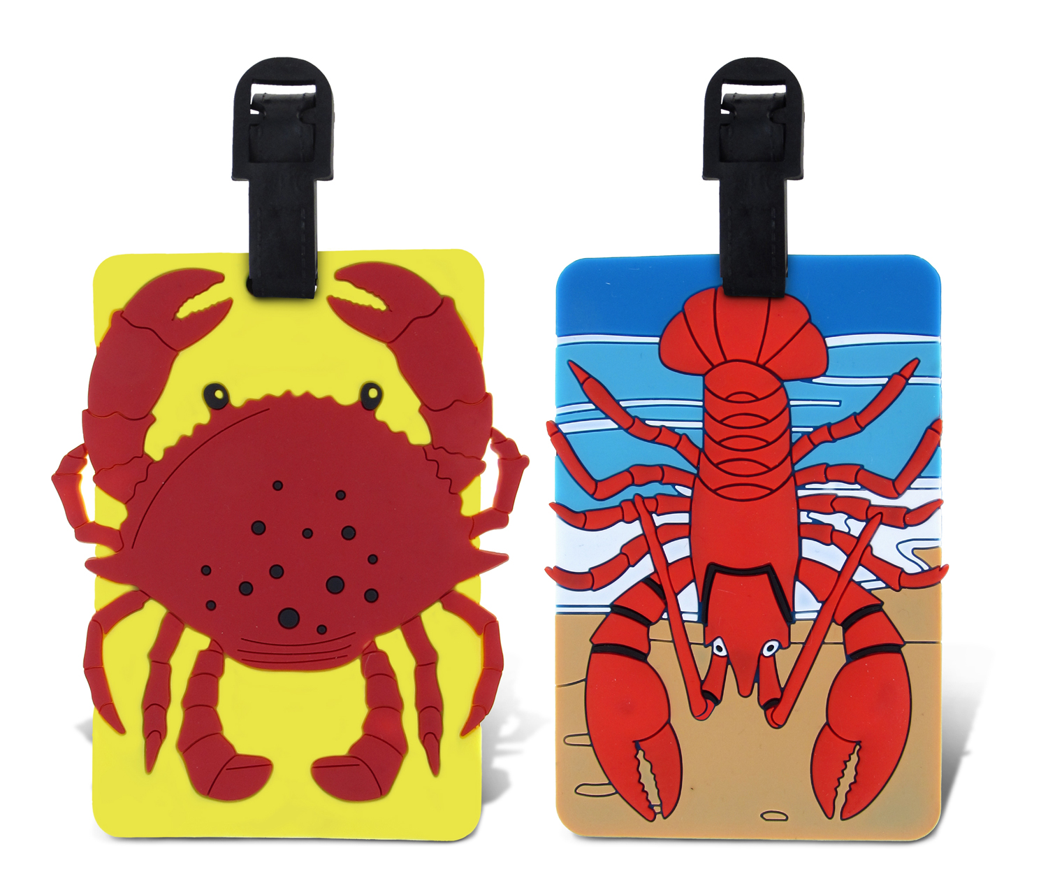 Puzzled Taggage Crab And Lobster Luggage Tag 3.5X5 Inch