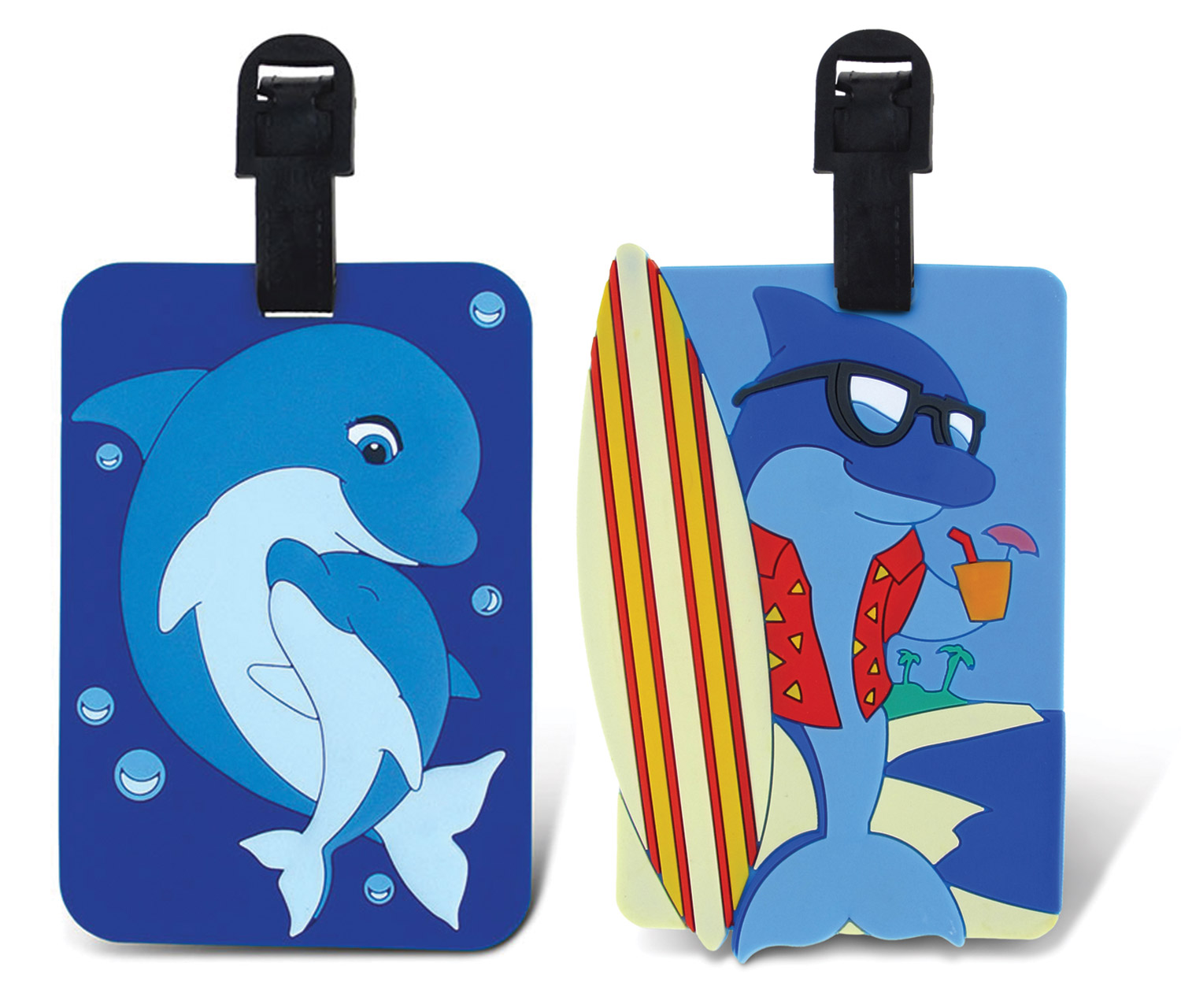 Puzzled Taggage Mama Dolphin And Cool Dolphin Luggage Tag...