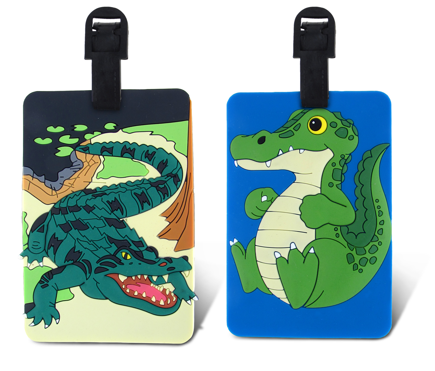 Puzzled Taggage Wild Gator And Cute Gator Luggage Tag 3.5...