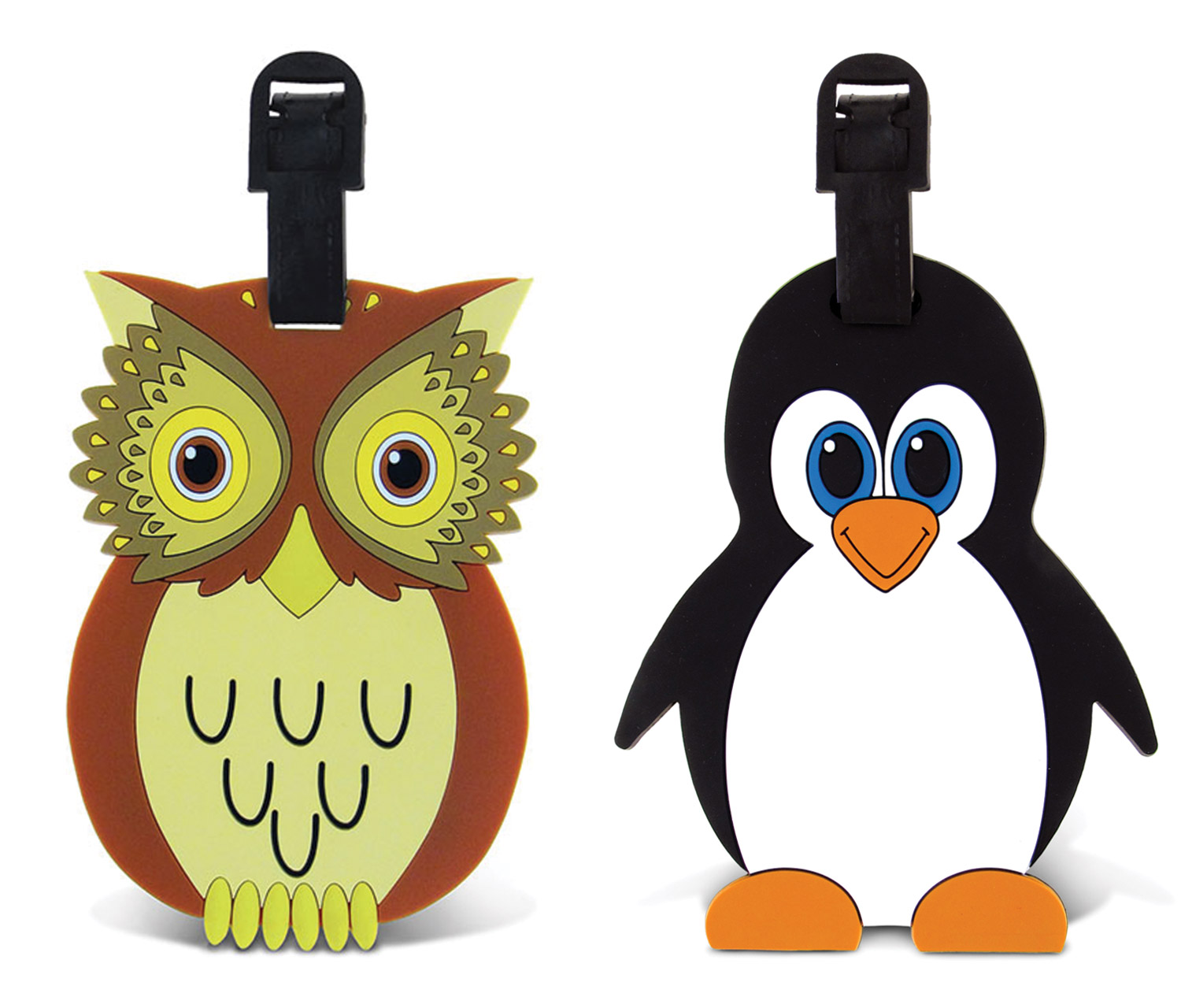 Puzzled Owl and Penguin Easy Identification Luggage and B...