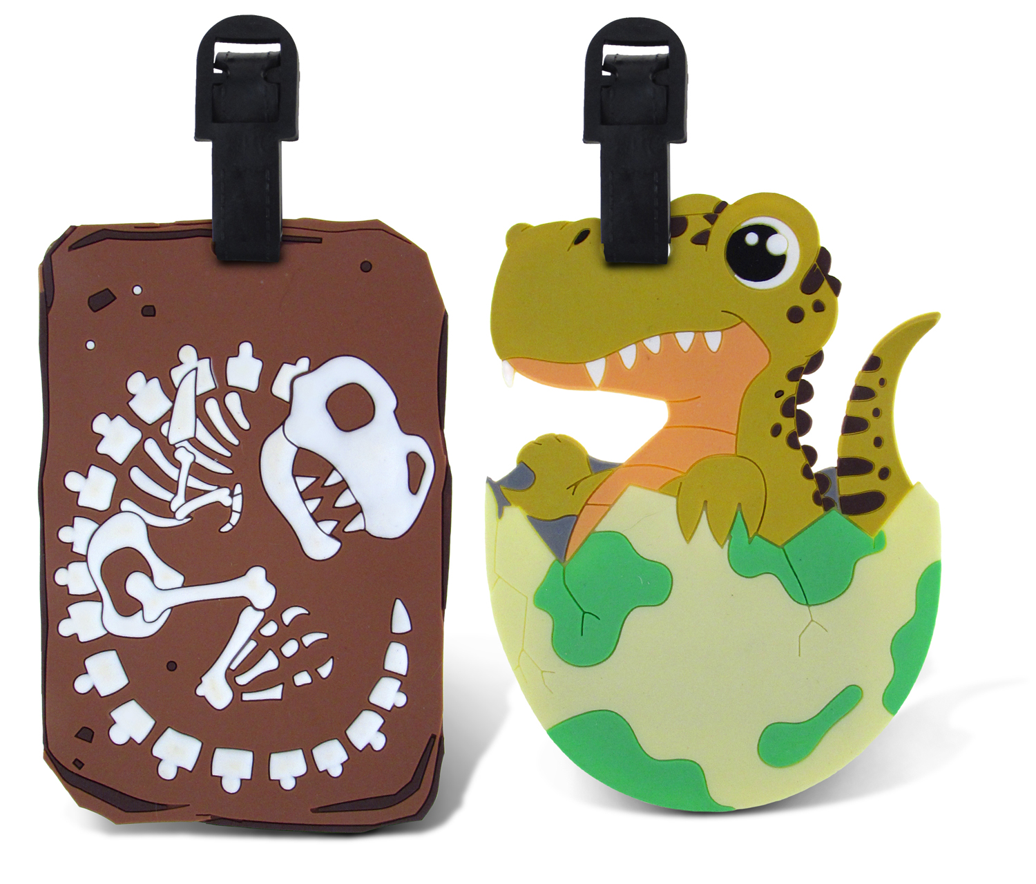 Puzzled Taggage T-Rex Bones And Baby T-Rex Luggage Tag 3....
