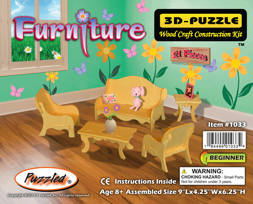 Images of Furniture Set Small 3D Puzzle