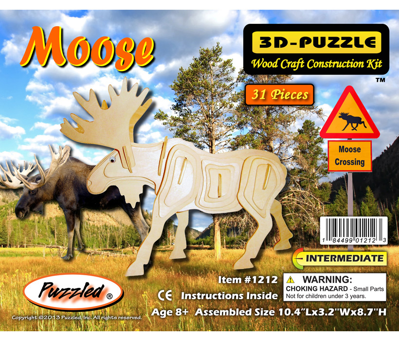 Images of 3D Puzzles Moose