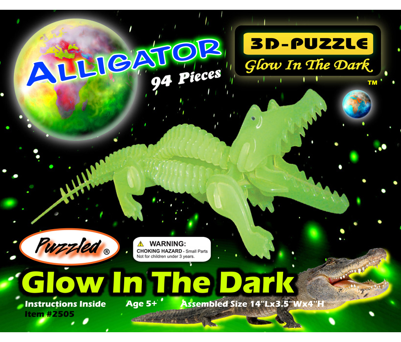 Images of Glow In The Dark 3d puzzles Alligator