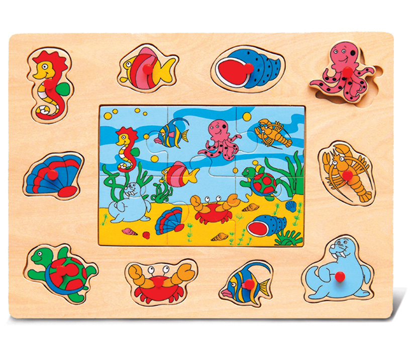 Images of Peg With A Jigsaw Ocean Life