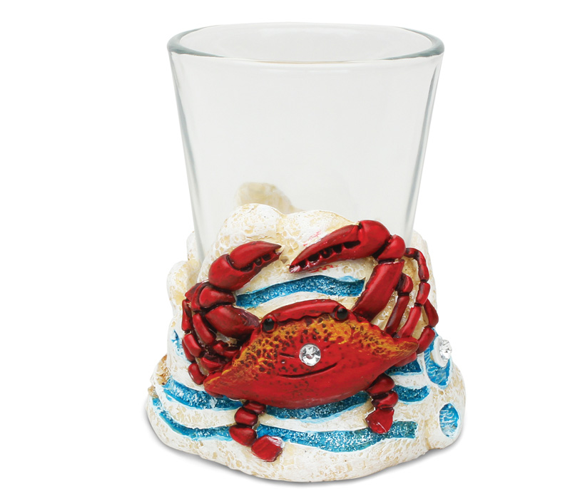Images of Stone Shot Glass Holder Crab
